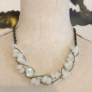 Vintage twisted chain & faceted glass necklace